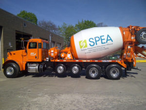 SPEA ready mix themed truck